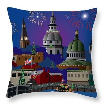 Annapolis Holiday Throw Pillow