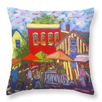 Annapolis Royal Market Throw Pillow