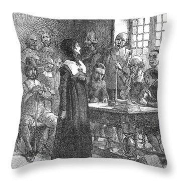 Anne Hutchinson (1591-1643) Throw Pillow by Granger