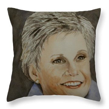 Anne Murray Throw Pillow by Betty-Anne McDonald