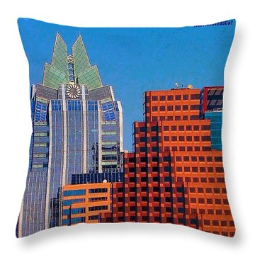 Another #gorgeous #bluesky Day In Throw Pillow