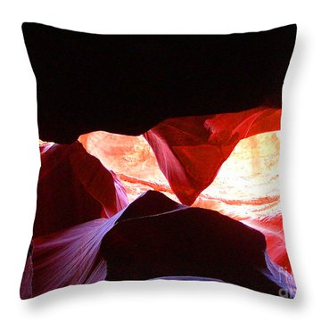 Antelope Slot Canyon - Astounding Range Of Colors Throw Pillow