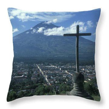 Throw Pillow featuring the photograph Antigua Guatemala by John  Mitchell