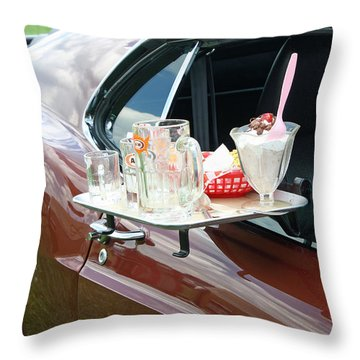 Antique Car Throw Pillow by Ellen Tully