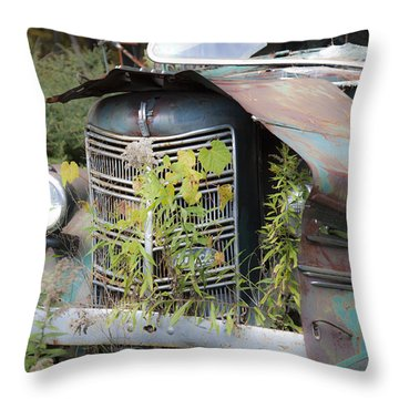 Throw Pillow featuring the photograph Antique Mack Truck by Charles Harden