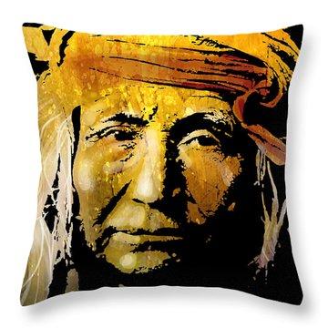 Apache Brave Throw Pillow by Paul Sachtleben