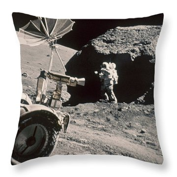 Apollo 17, December 1972: Throw Pillow by Granger