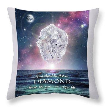 April Birthstone Diamond Throw Pillow