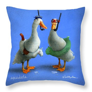 Aquaducts... Throw Pillow