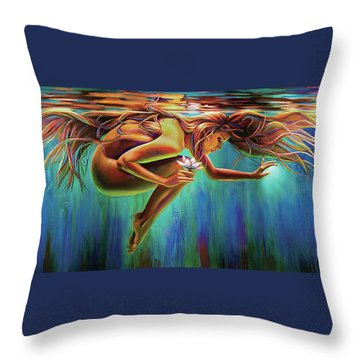 Aquarian Rebirth Throw Pillow