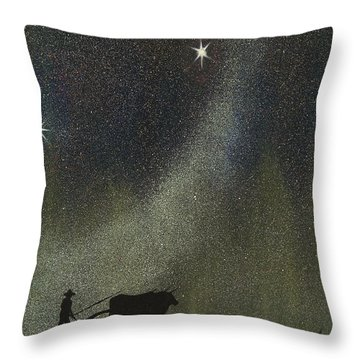 Arado De Bueyes Throw Pillow