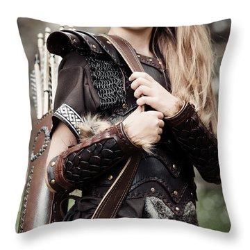 Archer Girl Throw Pillow