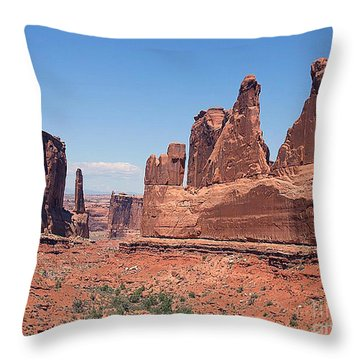Arches National Park Panorama Throw Pillow
