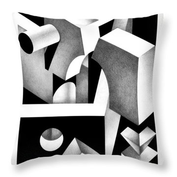 Archtectonic 8 Throw Pillow