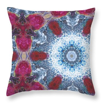 Arctic Blossom Throw Pillow by Maria Watt