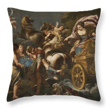 Armida Abducts Rinaldo Throw Pillow
