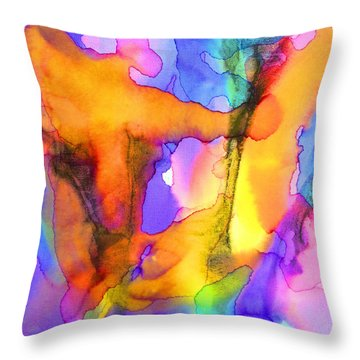 1 Art Abstract Painting Modern Color Signed Robert R Erod Throw Pillow