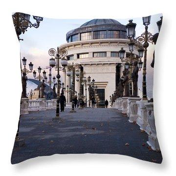 Art Bridge Throw Pillow by Rae Tucker