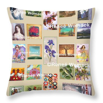 Art Collection Throw Pillow by Renee Womack