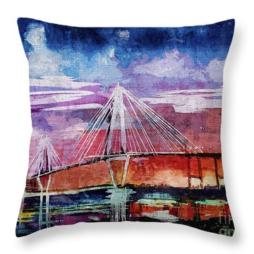 Arthur Ravenel Jr Bridge Charleston Throw Pillow