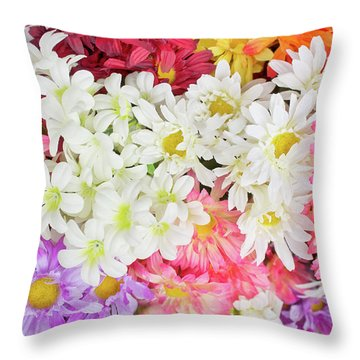 Artificial Flowers Throw Pillow
