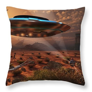 Artists Concept Of Stealth Technology Throw Pillow by Mark Stevenson