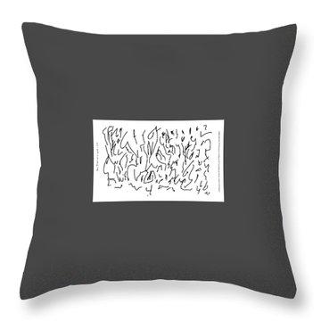 Asemic Writing 01 Throw Pillow