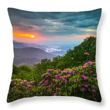 Asheville North Carolina Blue Ridge Parkway Scenic Landscape Throw Pillow