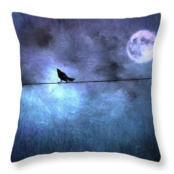 Throw Pillow featuring the photograph Ask Me For The Moon by Jan Amiss Photography