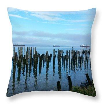 Astoria Ships II Throw Pillow