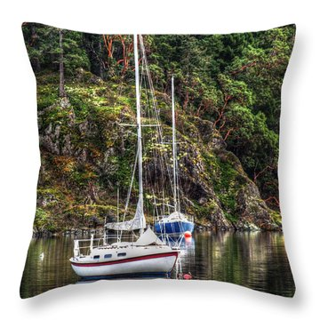 At Anchor Throw Pillow