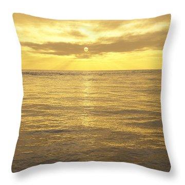 Throw Pillow featuring the digital art Ocean View by Mark Greenberg