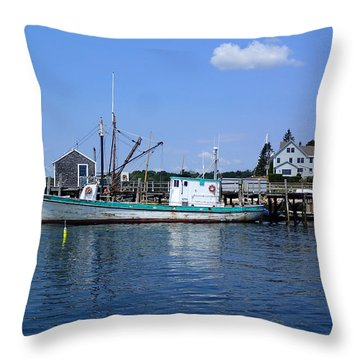 At The Dock Throw Pillow