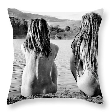 At The Lake Throw Pillow by Justyna Lorenc