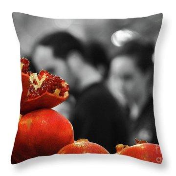 At The Market Throw Pillow