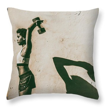 Athletic Woman Throw Pillow