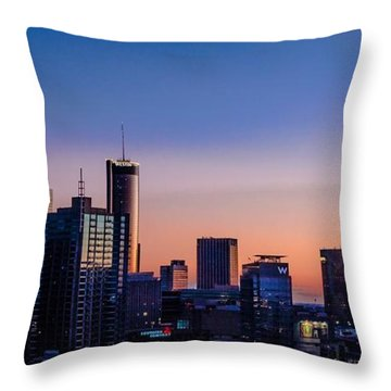 Atlanta Sunset Throw Pillow