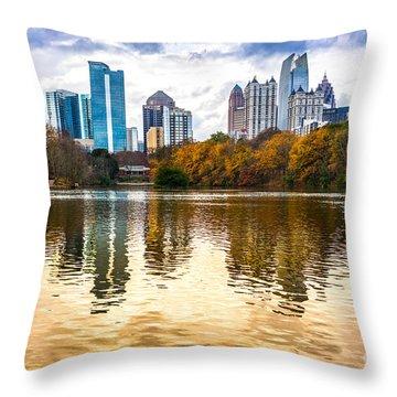 Atlanta - Usa Throw Pillow by Luciano Mortula