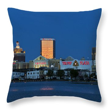Atlantic City Skyline Throw Pillow by John Greim