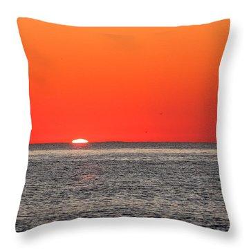 Atlantic Sunrise Throw Pillow by Allan Levin
