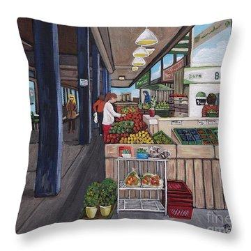 Atwater Market Throw Pillow