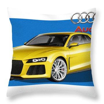 Audi Sport Quattro Concept With 3 D Badge  Throw Pillow