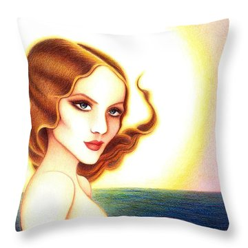 August Honey Throw Pillow
