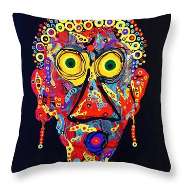 Auntie Was A Clarinet Throw Pillow