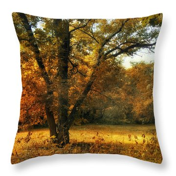 Autumn Arises Throw Pillow by Jessica Jenney