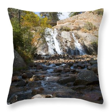 Autumn At Helen Hunt Falls Colorado Throw Pillow