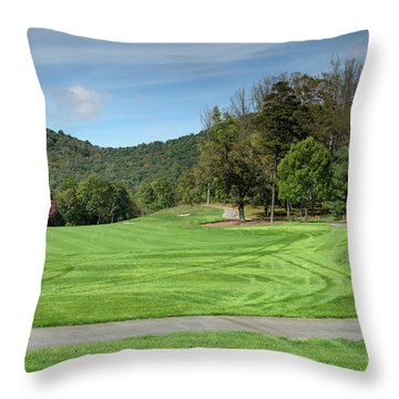 Autumn Fairway Throw Pillow