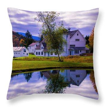 Autumn In Arlington Vermont Throw Pillow