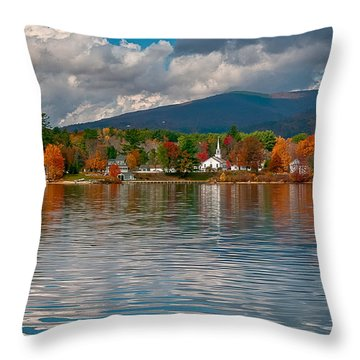 Autumn In Melvin Village Throw Pillow