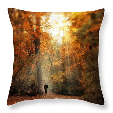 Autumn Meditation Throw Pillow by Jessica Jenney